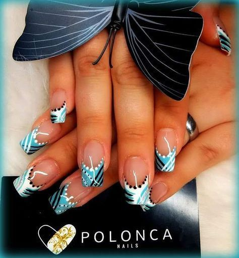 french nails with gold Prom -
