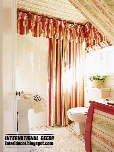Red Bathroom Window Curtains Шторы