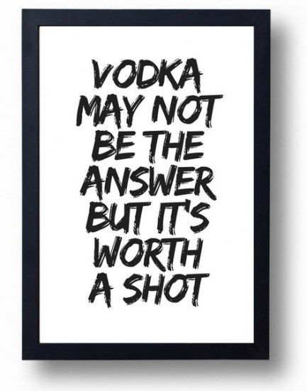 FV2 Vintage Style Quote You Can Dance Vodka Alcohol Funny Poster Print A2//A3//A4