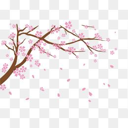 Free To Pull The Material Falling Cherry Blossoms Png And Psd Cherry Blossom Design Elements Diy Cards