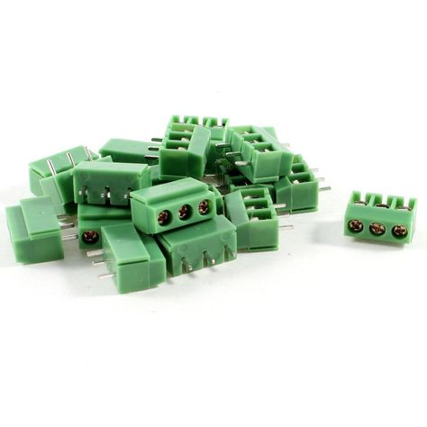 DHDL-20 Pcs 3 Pin 5mm Pitch PCB Mount Screw Terminal Block AC 250V 8A. Yesterday's price: US $1.64 (1.35 EUR). Today's price: US $1.81 (1.58 EUR). Discount: 17%.