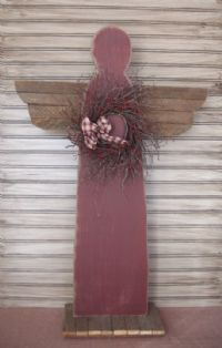 Diy Garden Angel Made From Old Shutter
