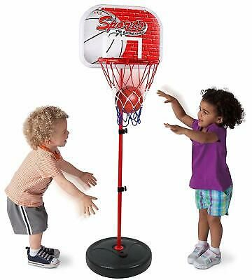 Advertisement Basketball Set Kids Hoop Goal Oversized Toddler Adjustable Height Up To 4 Ft In 2020 Kids Basketball Basketball Hoop Outdoor Toys For Kids