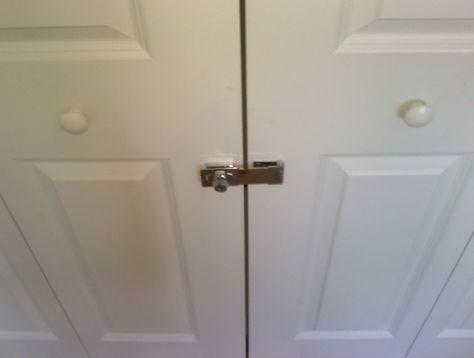 Bifold Closet Door Locks With Images Folding Closet Doors French Closet Doors Double Closet Doors