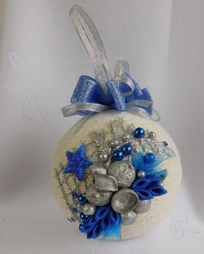 Bombka Sznurkowa Na Choinke Prezent Rekodzielo 8098311932 Oficjalne Archiwum Allegro Christmas Bulbs Christmas Ornaments Christmas Balls