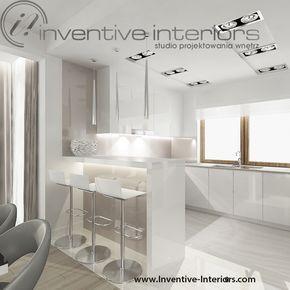 Projekt Kuchni Inventive Interiors Biało Beżowa Kuchnia Z