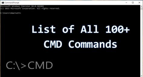 Here's The List of All 100+ CMD Commands For Your Windows | Wisdom