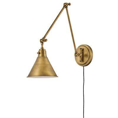 Hinkley Lighting Arti 1 Light Swing Arm Lamp Wayfair In 2020 Swing Arm Lamp Swing Arm Wall Lamps Lamp