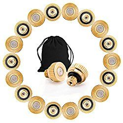 Sywon 40 Pack Brass Misting Nozzles Replacement Heads for Garden Patio Lawn