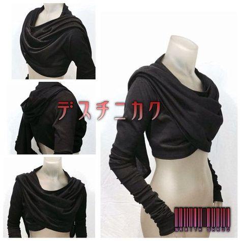 Wraith Shrug by CrisiswearClothing on Etsy- Zinnias winter shirt/ sweater?