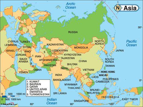 Political Map Of Asia Mapa De Europa Mapa Politico Continente