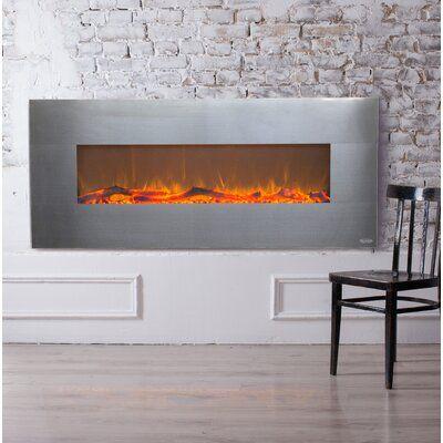 Zipcode Design Lauderhill Wall Mounted Electric Fireplace Finish