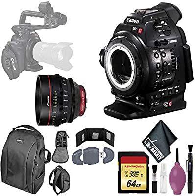 Canon Eos C100 Cinema Eos Camera With Dual Pixel Cmos Af 64gb Memory Card Card Wallet Reader Case Canon Cn Cinema Camera Eos Card Wallet