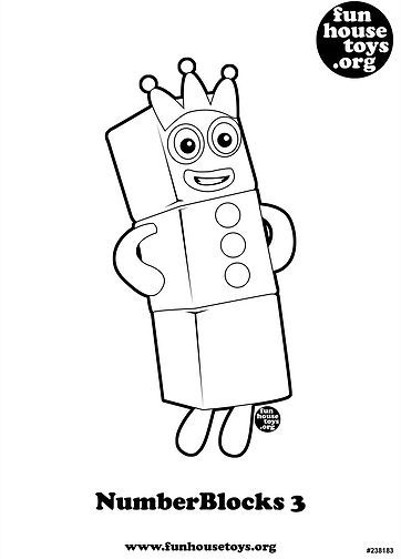 Numberblocks 3 Printable Coloring Page J Insect Crafts