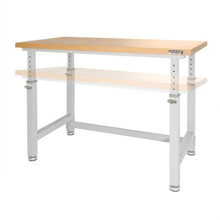 Pleasing Ultrahd Adjustable Height Heavy Duty Wood Top Workbench By Gmtry Best Dining Table And Chair Ideas Images Gmtryco