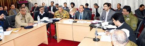 Law Minister Abdul Haq Khan Chairing A Meeting At Jammu Jammu
