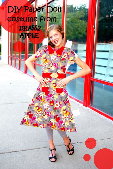 DIY girls Halloween Costume – paper doll - brassyapple.com