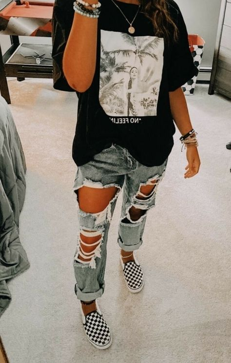 Cute Lazy Outfits, Trendy Fall Outfits, Casual School Outfits, Teen Fashion Outfits, Edgy Outfits, Retro Outfits, Simple Outfits, Teen Winter Outfits, Flannel Outfits