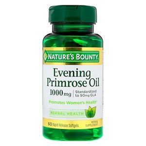 Nature S Bounty زيت زهرة الربيع المسائية 1 000 مجم 60 كبسولة جيلاتينية مرنة سريعة الإطلاق Primrose Oil Evening Primrose Oil Evening Primrose