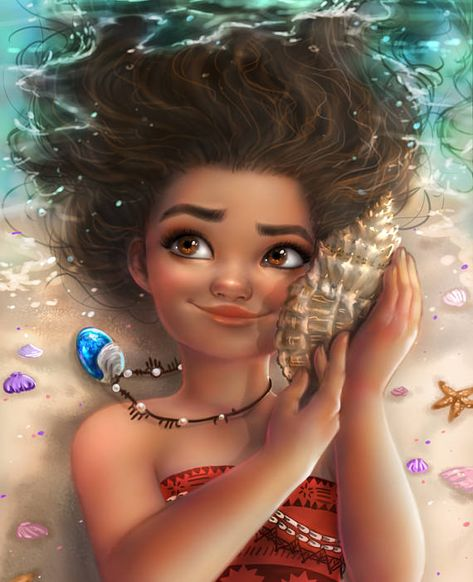 Moana cross stitch pattern - Solid and blended DMC colors - Large chart - Cross stitch Disney - 18 c