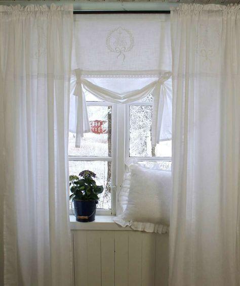 Vorhang Amalie Weiss Gardine 120x240 Cm 2 Stuck Gardinenschals Gardinenset Mit Bildern Gardinen Landhausstil