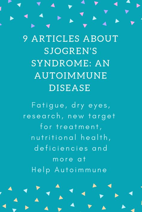 Sjögren's Syndrome: Practical Guidelines to Diagnosis and Therapy