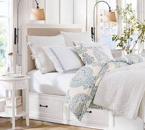 Stratton Storage Platform Bed With Baskets Brushed Fog Full