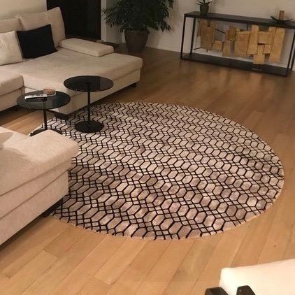 Extend Round Area Rug Modern Home Design Interiordesign