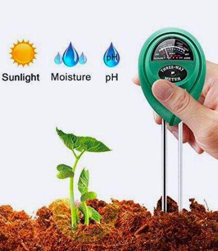 Marge Plus Soil Moisture Meter 3 In 1 Soil Test Kit Gardening
