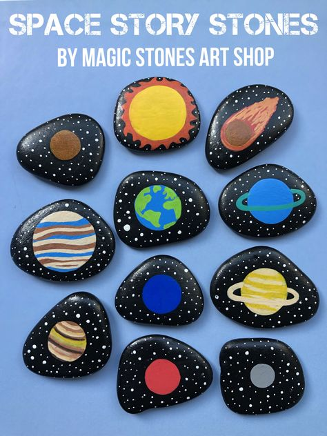 Space Toys Story Stones Solar System educational Montessori handmade toy Planets activity Outer Space playset for kids Preschooler early learning. Custom order - made by Magic Stones Art Shop. Story Stones, Planets Activities, Preschool Activities, Space Crafts Preschool, Planets Preschool, Outer Space Crafts For Kids, Space Activities For Kids, Early Learning, Kids Learning
