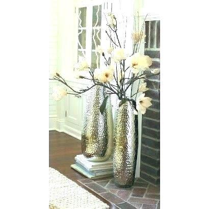 Beautiful Silver Mosaic Floor Vase Graphics Elegant Silver Mosaic