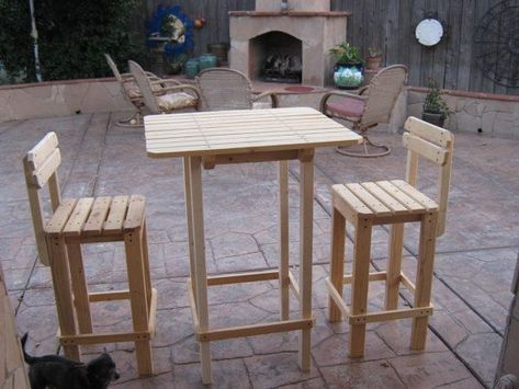 Wood Tall Patio Table Google Search