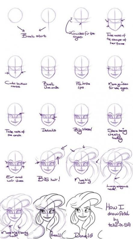 49 Trendy Drawing Disney Characters Step By Step Deviantart Disney Drawing Tutorial Disney Drawings Ariel Drawing