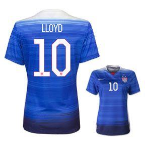 Nike Youth Usa Lloyd 10 3 Star Soccer Jersey Away 2015 16