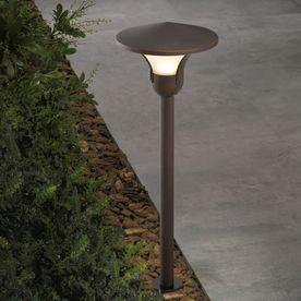 Portfolio 3 Watt Aged Bronze Low Voltage Led Path Light Lowes Com Led Path Lights Path Lights Landscape Lighting