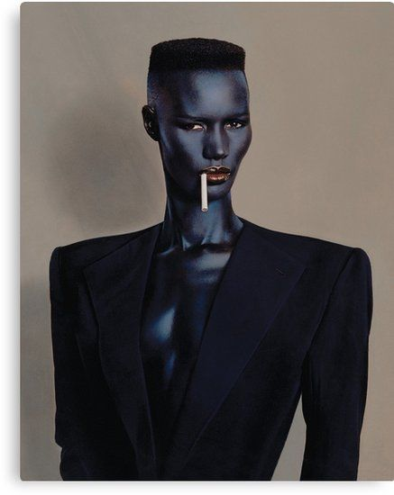 'Night Clubbing – Grace Jones' Canvas Print by goatboyjr – fashion editorial photography Grace Jones, Photo Trop Belle, Fotografia Retro, Pretty People, Beautiful People, Art Afro, Catty Noir, Lake Pictures, Foto Pose