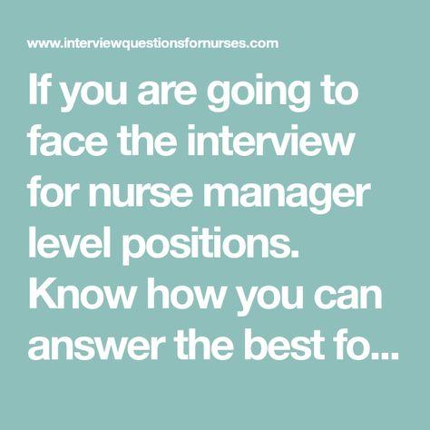 List of Pinterest interview questions nursing manager ideas