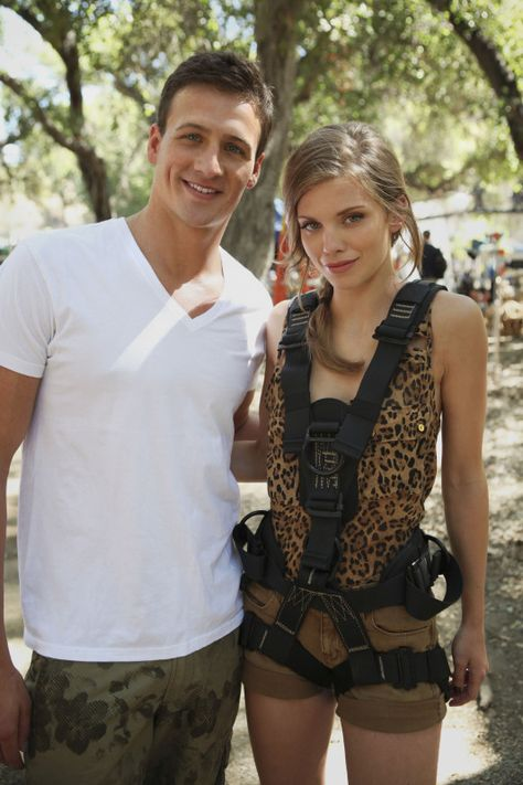 """90210 -- """"Into The Wild"""" -- Image: NO504_607 -- Pictured (L-R): Ryan Lochte and AnnaLynne McCord -- Photo: Scott Humbert/The CW -- ©2012 The CW Network. All Rights Reserved"""