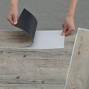 Neu Holz Vinyl Laminat 1m Selbstklebend Eiche Grau 7 Dekor