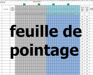 Exemple De Feuille De Pointage Journalier Et Mensuel En Excel Feuille De Presence Modele De Contrat Feuille
