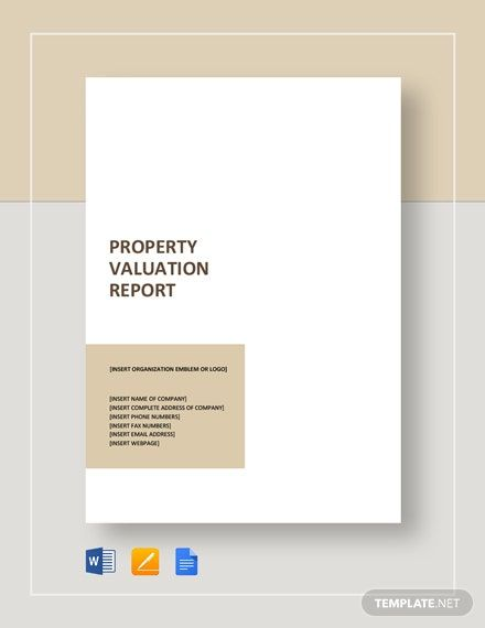 Property Valuation Report Template Free Pdf Google Docs Word Template Net Property Valuation Business Valuation Report Template