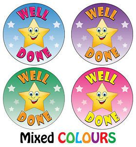 PERSONALISED HOME LEARNING SCHOOL WELL DONE REWARD LABEL STICKERS EMOJI COOL