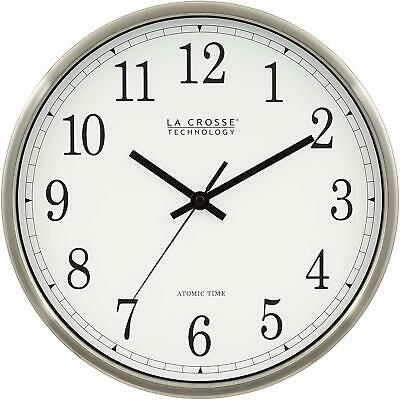 Details About La Crosse Technology Wt 3126b 12 Inch Atomic Analog Wall Clock Aluminum In 2020 Clock Wall Clock Metal Wall Clock