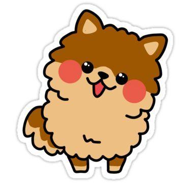 Pomeranian Dog Sticker Dog Stickers Pomeranian Dog Cute Stickers