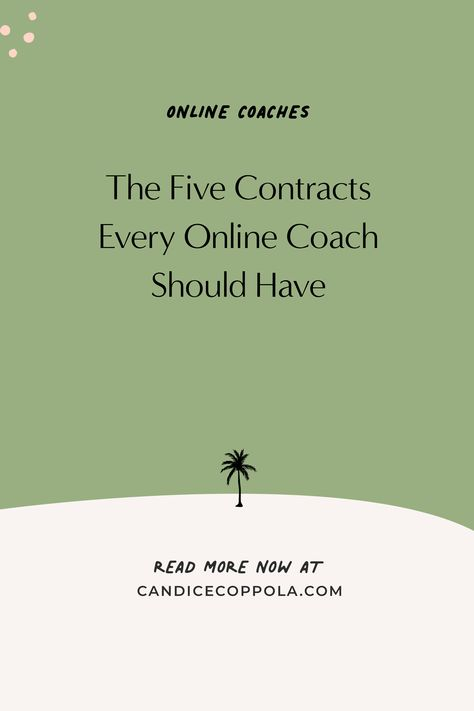 The 5 Contracts Every Online Coach Should Have