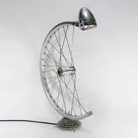 Bicycle parts desk lamp by Bespoke Spokes – upcycleDZINE