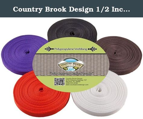 Country Brook Design® 1 Inch Pink Heavy Cotton Webbing 50 Yards