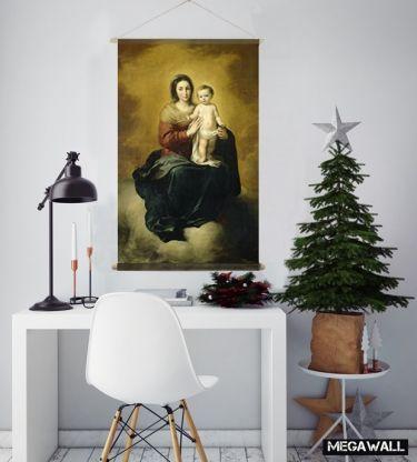 Special Item Van Megawall Supergave Kerst Prent Mooie Wanddecoratie Om Uw Kerst Huis Helemaal Af Te Stylen Voor Slechts 45 Eu Kerst Kerstdecoratie Wandkleed