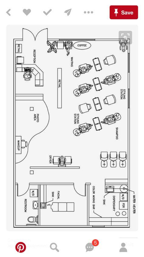 Image result for hair salon efficient modern floor plan Hair Salon - fresh gym blueprint maker