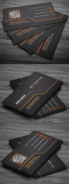 Creative Business Card Template #businesscards #businesscardtemplates #visitingcards #psdtemplates